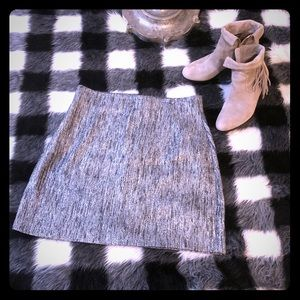 H&M tweed silver mini skirt